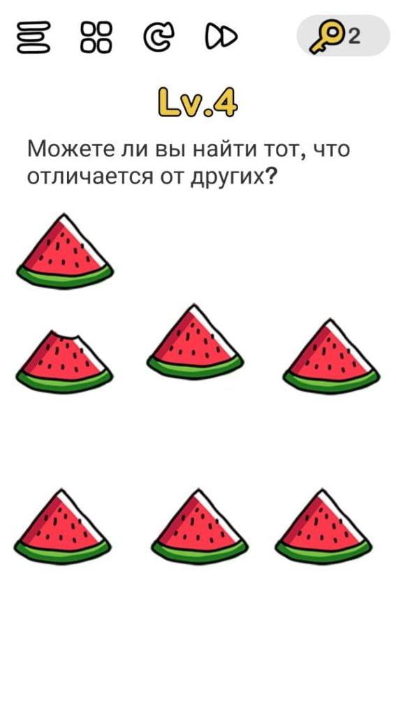 Можете ли вы найти тот, что отличается от других? 4 уровень